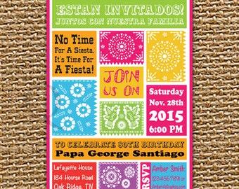 Mexican Fiesta Invitation, Cinco de May, Fiesta Birthday Invitation, Mexican Birthday, Mexican Theme, Printable Invitation, Digital File