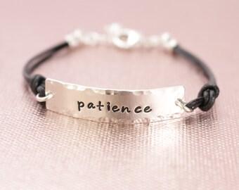 Sterling Silver Inspiration Hand Stamped Bracelets- Faith, Survivor, Strength, Believe & Hope P-168