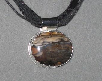 Deschutes Jasper Sterling Silver Pendant