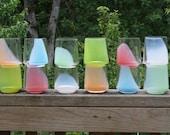 Set of 6 multi color tumblers.