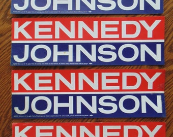 4 KENNEDYJOHNSON Bumper Stickers