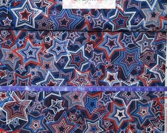 Benartex Patriotic Stars - BTY Cotton Fabric - Choose your cut