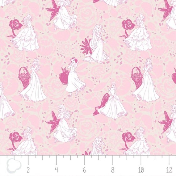 disney world haircut camelot fabrics disney princess line drawing in light pink 3149