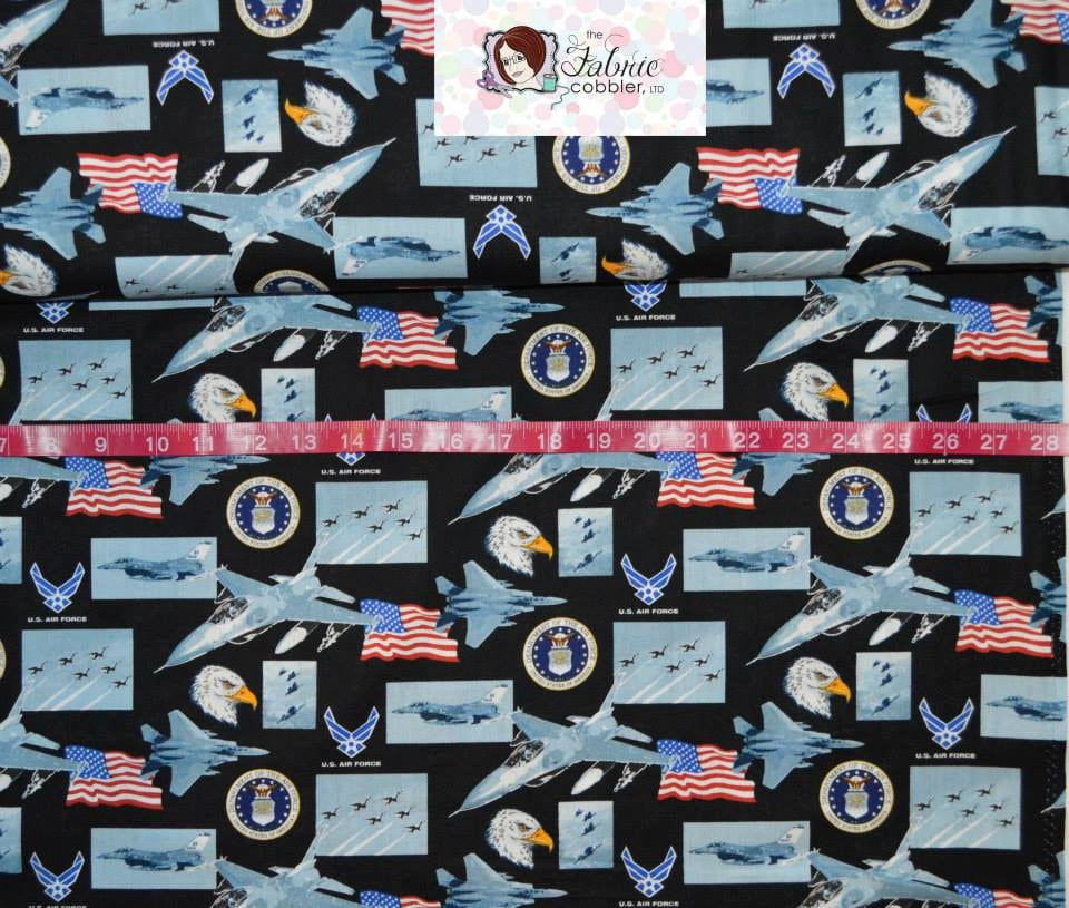 Print concepts us air force bty cotton fabric choose your for Airplane print cotton fabric