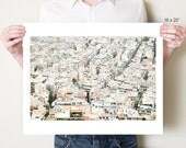 Athens Greece photography print, Athina city rooftops fine art photograph. Greek cityscape urban loft decor. Small / large format artwork