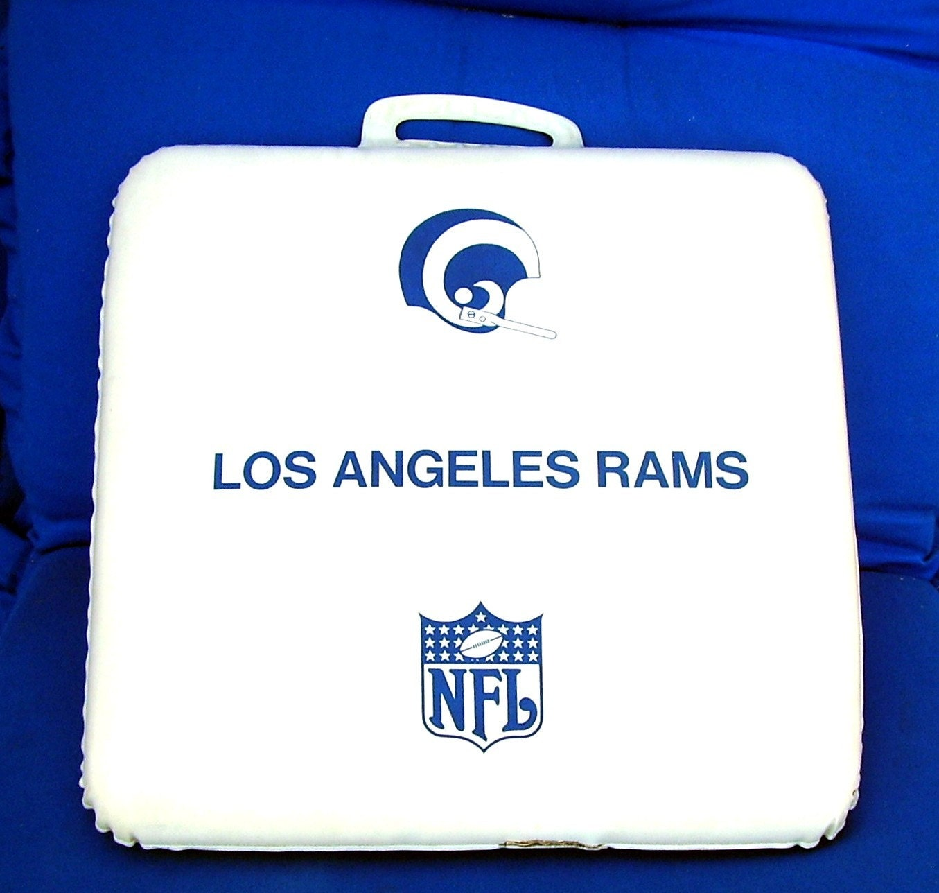 Vintage Los Angeles Rams Stadium Seat Cushion 1964 Mid Century