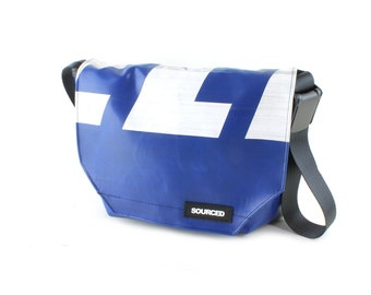 Messenger Bag made from Truck Tarp, Courier bag, Satchel, Laptop Bag, Courier Bag, Eco Friendly and Handmade (H05)
