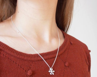 Let It Snow - handmade sterling silver necklace