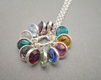 Custom Birthstone Necklace - Mom Necklace - Mommy Jewelry - Grandma Necklace - Birthday Jewelry - Mother's Day gift - Sentimental Jewelry