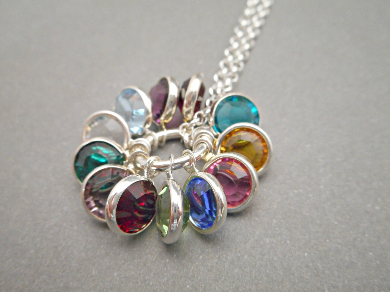 Custom Birthstone Necklace Mom Necklace Mommy Jewelry