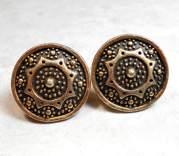 vintage cufflinks anson jewelry black and gold by