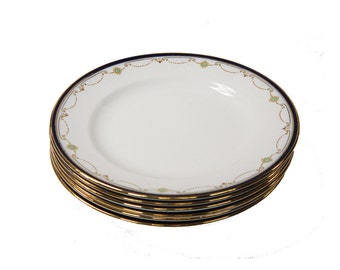 Antique Salad Plates F. Winkle & Co, Whieldon Ware, Blythe 1910