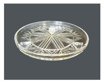 Cake Stand by Sowerby, England Pressed Glass 1930s Cake Plate Footed Cake Stand