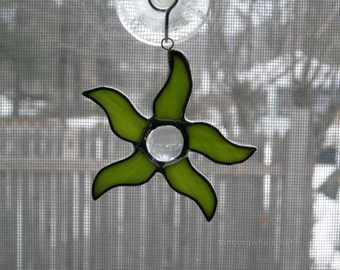 Stained Glass Dancing Star ornaments