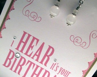 Birthday Cards / Earring Cards / Handmade Cards / Handmade Earrings / Birthday Gift / Unique Cards /  Birthday