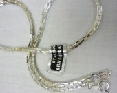 Sterling Silver plated vintage New old Stock Necklace 15 inch