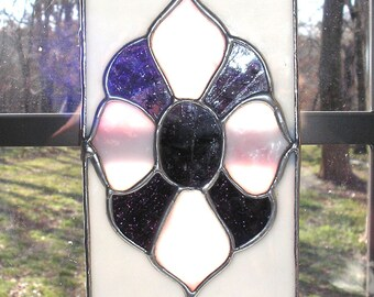 LT Stained glass victorian style suncatcher small panel window ornament my hand made in the USA