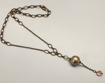 CA Antique Beige Spotted Pearl Necklace