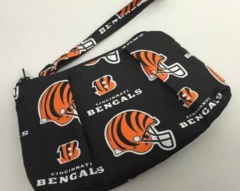 Cincinnati Bengals Double Pleated Wristlet