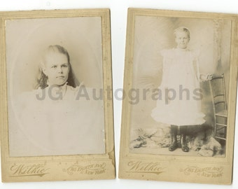 19th Century Child - Cabinet Cards - Two Vintage Photographs