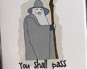 Lord of the Rings Gandalf Card