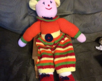 Yarn doll multiple colors charming doll 30 inches, multi colored soft bodied doll very cuddly