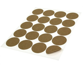 Kraft brown labels - 60 BLANK 2 inch Round  Stickers for Labeling, Custom Printing, Packaging Wedding Favors  Bridal Shower Birthday Party