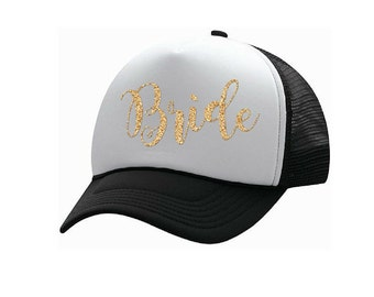 Bride Trucker Hat - Iron on Decal - Bachelorette Party - Bride Shirt - Bride Gift - Bride Can Cooler - Bride Tote - Bridesmaid Gift