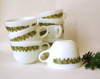 Corelle Crazy Daisy Vintage Coffee / Tea Cups - 8 Cups