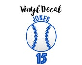 Baseball Mom Car Decal, Custom Baseball Decal, Baseball Mom Vinyl Decal, Baseball Mom, Baseball Player with Name and Number Decal