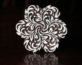 Textile Stamp, Pottery Stamp, Indian Wood Stamp, Tjaps, Blockprint Stamp, Printing Stamp Blocks- Stylized Flower