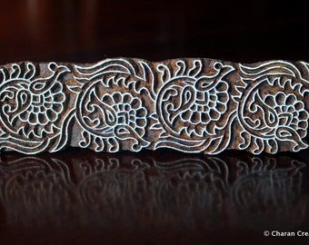 Wood Block Stamps, Indian wood stamps, Pottery Stamps, Textile Stamps- Decorative Floral Border