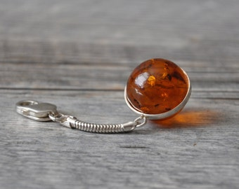 HandCrafted Baltic Amber Sterling Silver KeyChain