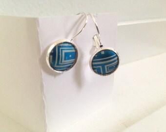 Blue Bubble Turquoise lightweight earrings