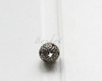 4 Pieces / Star Ball / Antique Brass / Brass Base / Spacer (Z7945//H293)