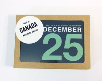 BOXED SET | 8 in a Box | Set of Christmas Cards with Funny Christmas Card Saying | I Am Only a Morning Person on December 25 | Holiday Card