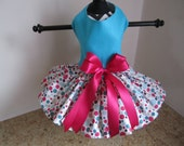 Dog Dress XS Blue with multi polkadots   By Nina's Couture Closet