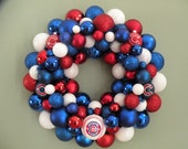 CHICAGO CUBS TEAM Baseball Ornament Wreath