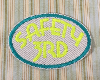 PATCH Safety 3rd - Neon Yellow, Teal Green