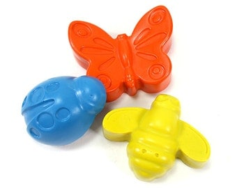 Garden bugs crayons set of 3 crayons by Scribblers Crayons