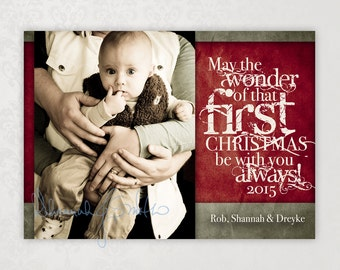 Baby's First Christmas Print Your Own Photo Christmas Card