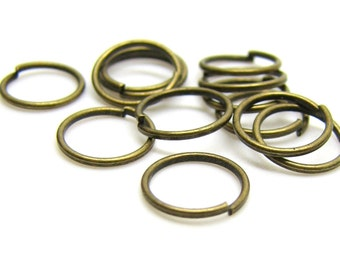 8mm Jump Rings : 100 Antique Bronze Open Jump Rings 8mm x .8mm (20 Gauge) | Brass Ox Jump Rings -- Lead, Nickel, & Cadmium free 8/.8-1