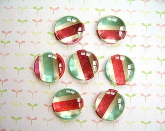 Red  Green White Glass Thumbtack Push Pins, Small Round Glass Push Pins, Party Decoration, Board Supplies