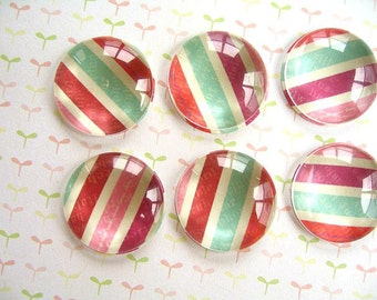 Red Green Round Glass Magnet Fridge Magnet, Home Decoration Magnets