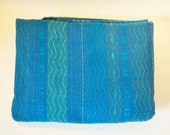 Vintage Bedspread Coverlet Blue Fabindia GEOMETRIC 1970s Folk
