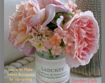 Magazine Bag Duct Tape ANA DELIGHT Jam Jar Bouquet