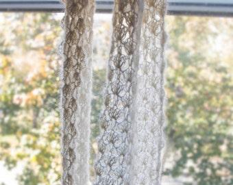 White Lace Crochet Scarf