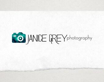 Premade Logo // Logo Design // Business Logo //  Photography Logo //  Watercolor Camera Logo