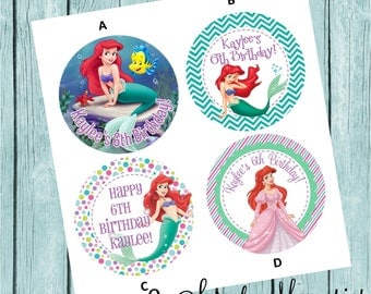 The Little Mermaid Labels- Printed and Shipped to You!