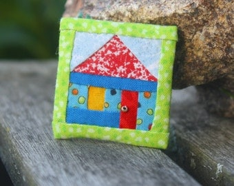 Hand-made Lapel Pin with House